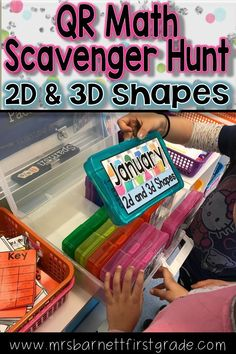 Going on a QR Scavenger Hunt is an awesome way to practice math standards! Practice 2D and 3D shapes in January - or any other month. Download this resource to send your students on a fun adventure with self checking QR Codes! Hunts are aligned with Comm