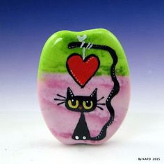 SHOWERED-IN-LOVE-byKAYO-a-Handmade-SWEET-CAT-Lampwork-Art-Glass-Focal-Bead-SRA