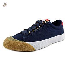 K-Swiss Women's Irvine T Dress Blues/Ribbon Red/Dark Gum Canvas Sneaker 8 B (M) - K swiss sneakers for women (*Amazon Partner-Link)