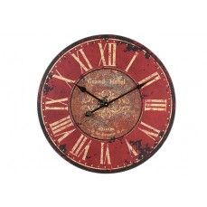 Large Red Wooden Clock    $36.00 @ http://antiquefarmhouse.com/current-sale-events/unionjack.html