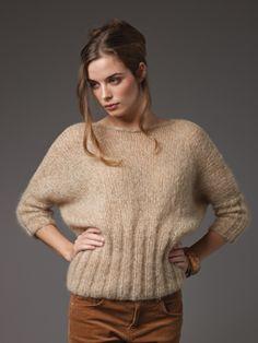 Curio boatneck sweater pattern by Marie Wallin (knitting, pullover, bottom-up, seamed, rowan)