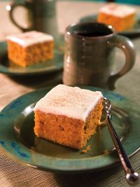 Pumpkin Bars - These are a family tradition in my house.  I just made some.  Pumpkin bars tonight and pumpkin pie on Saturday!