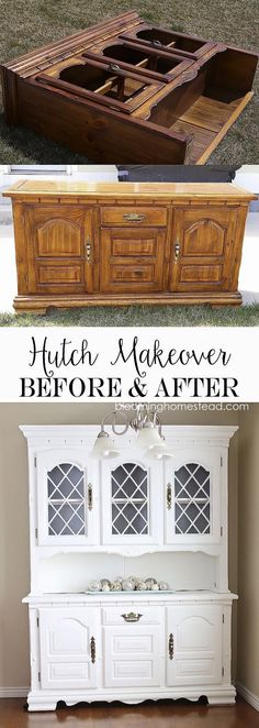 China Hutch Makeover From Start To Finish Using Americana Decor Chalky I Have This Same Im Looking Give A And Can Now Visualize