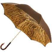 Luxurious double canopy umbrella from Brolliesgalore the finest Italian polyester satin fabric by Pasotti. Dark brown outer canopy with an animal print ...  sc 1 st  Pinterest & Pasotti Men Black Luxury Umbrella Red Gem Handle | pasotti ...
