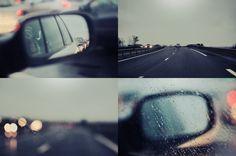 Rain on the road