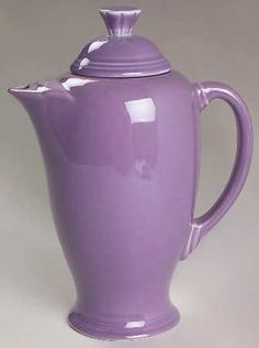 Fiesta Ware Lilac Coffee Server Mint | eBay. This is the perfect color lilac that I want in my bedroom.