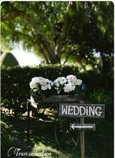 Rustic Garden Wedding Sign Your Words Recycled by TRUECONNECTION