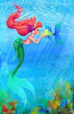 Glamorous Ariel & Flounder