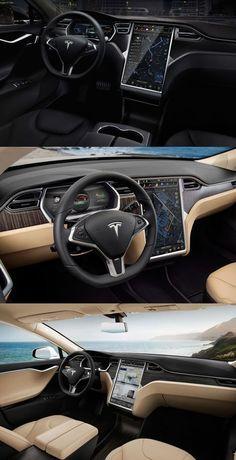 Tesla Model S Interior - what a magnificent machine.