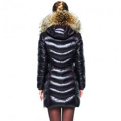 Puffer Coat with Fur Hood 5