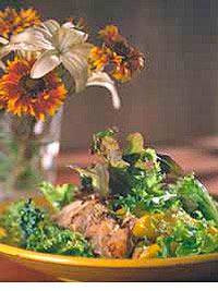 Jamaican Chicken Salad - Savor this delicious main-dish salad of spicy sauteed chicken, mixed greens, and mangoes any season of the year.....