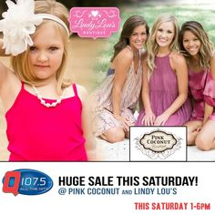 Join The Q this Saturday 1-6pm @ Pink Coconut & Lindy Lou's. More info at http://Q1075.com