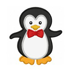 Instant Download Boy Penguin  Applique Machine by JoyousEmbroidery, $2.99