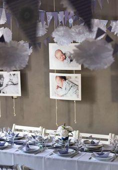 64 modern ideas for baptism decoration! Nautical Baptism, Nautical Party, Baby Boy Baptism Gifts, Baby Christening, Ideas Bautismo, Baptism Photos, Baptism Ideas, Christening Decorations, Baby Dedication