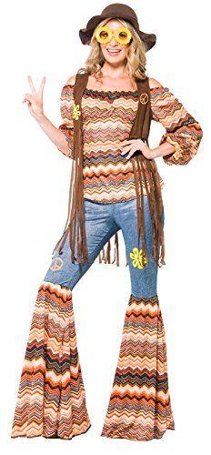 Smiffy's Women's Harmony Hippie Costume, Multi, Small