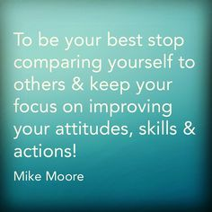 Be your best!