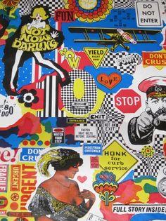 Seventies pop art wallpaper