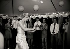 We love when a bride knows how to get down and have a good time at her wedding. That's what it's all about! http://www.perfectweddingguide.com/wedding-blog/index.php/2013/02/05/rustic-farm-wedding-in-new-hampshire/#