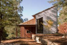 board and batten house plans | David Wakely). The metal siding is for extra protection on the shady ...