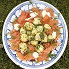 Aardappelsalade met gerookte zalm van Jamie Oliver - recept - okoko recepten