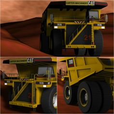 402...408 Collage - #3D TAEVision #Mechanical #Design Walking w/ #CarterMachinery in an open-pit Mining Rock #Trucks #Construction #Mining #Machinery #CAT #Caterpillar
