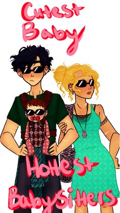 OF COURSE the first thing I draw from the TOA book is big brother Percy. Really, I wanted to draw something really sweet with Percy holding his little sister. But then I thought I wanted Annabeth in the picture. Then I thought what would happen if...<<< yes