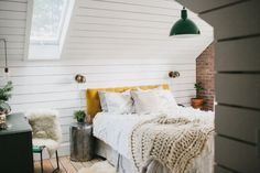 One Couple Turned Their Attic Into The Most Beautiful Rustic Master Suite - ELLEDecor.com