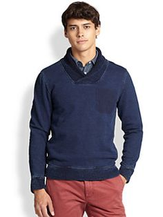 Madison Supply - Shawl-Collar Cotton Sweater