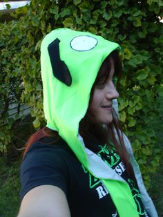 Reversible Invader Zim Gir inspired Scarf hat by SparkiesThreads, $25.00