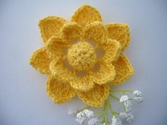 Hand Crochet  Mohair Cotton Corsage Brooch by CraftsbySigita on Etsy