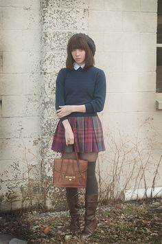 Plaid skirt inspiration.