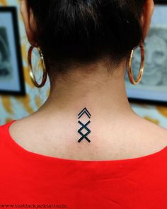 Inguz Greek symbol Tattoo @ The BlackJack Tattoo Meaningful Symbol Tattoos, Small Symbol Tattoos, Symbolic Tattoos, Hindu Tattoos, Side Wrist Tattoos, Wrist Tattoos For Guys, Finger Tattoos, Cute Tattoos, Simbols Tattoo