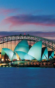 Sydney Opera House, Australia - Most Amazing Wonders Harbor Bridge, Sydney Harbour Bridge, Beauty Around The World, Around The Worlds, Auckland, Best Cruise Ships, Adventure Bucket List, Royal Caribbean, Travel Essentials