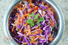 Ensalada de col morada y zanahoria