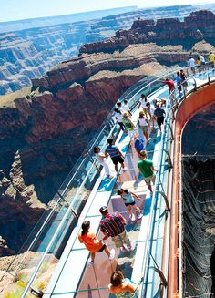 The Grand Canyon Skywalk at the West Rim.  Grand Canyon National Park.
