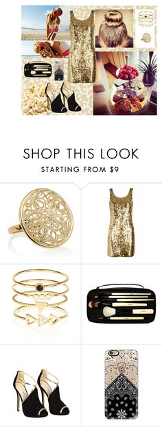 """""""Glitter"""" by mssantos ❤ liked on Polyvore featuring Waverly, Isharya, Moschino, Accessorize, Bobbi Brown Cosmetics, Jimmy Choo and Casetify"""