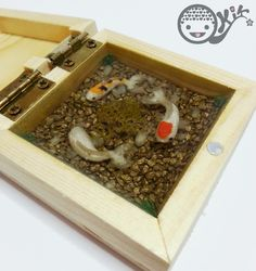 2nd Koi Pond by kkkiiikkk.deviantart.com on @deviantART can get mini boxes at Dollarama, FYI smaller boxes & pots with lids are better as they use less resin and dry faster, the lid keeps the dust out.