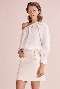Frill Asymmetric Top Asymmetrical Tops, Shoe Size Conversion, Linen Shorts, Slim Pants, Online Purchase, No Frills, Cold Shoulder Dress, Mini Skirts, Legs
