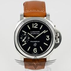 #Panerai #PAM00005 Luminor Marina Logo 44mm Stainless Steel Case Black Dial Painted Markers Manual Wind Watch #PAM05 #OCWatchCompany #WatchStore #WalnutCreek