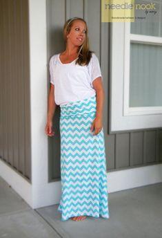 Knitting Patterns Skirt The Chevron Maxi Skirt -- Women& Maxi Skirt -- Jersey Cotton Knit Skirt -- You Chose the Color . Chevron Maxi Skirts, Womens Maxi Skirts, Maxi Outfits, Modest Outfits, Knit Skirt, Dress Skirt, Wrap Dress, Skinny Jeans Damen, Plus Size Kleidung