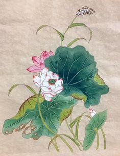 이웃님들 오랜만이예용포스팅을 안했더니, 화실을 안하는줄 아시는 분들도 있더라구요 ㅋㅋㅋㅋㅋㅋㅋㅋㅋ... Korean Painting, Chinese Painting, Chinese Art, Korean Art, Asian Art, Lotus Flower Art, Lotus Painting, Japanese Embroidery, Buddhist Art