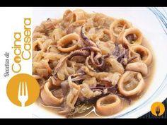 Calamares encebollados | Recetas de Cocina Casera - Recetas fáciles y sencillas Dessert Recipes, Desserts, I Foods, Apple Pie, Macaroni And Cheese, Favorite Recipes, Meals, Dishes, Cooking