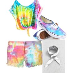 Tie Dye by jones-alanna on Polyvore featuring polyvore, fashion, style, Boohoo and Vans