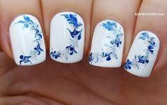 #Winter drag marble #nailart - For more #easy #nails please visit: https://www.youtube.com/user/LifeWorldWomen