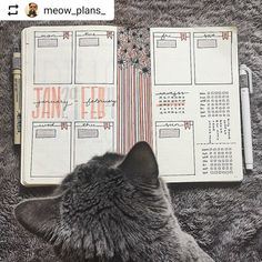 By @meow_plans_ Tag your photos with #bujobeauty for a chance to be featured ・・・ Getting ready for next week...can you believe it's almost February?? (Pepper can't either! ) . . . . #bulletjournal #bujo #bujocommunity #bujojunkies #bujobeauty #bulletjournalweekly #handlettering #handdrawn #becreative #organized #organization #planneraddict #showmeyourbulletjournal #showmeyourplanner