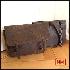Vintage Swiss Army Connectable Saddle Bags  by NaturaMachinata