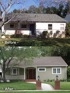 Front Porch Ideas Remodeled Colonial in South Pasadena