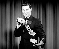 Johnny Carson, when he was a young magician.