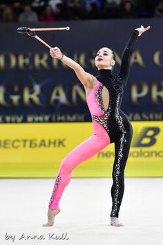 Natela Bolataeva (Georgia), Grand Prix (Kiev) 2018 Gymnastics Costumes, Dance Costumes Lyrical, Sport Gymnastics, Rhythmic Gymnastics, Skating Dresses, Dance Dresses, Catsuit, Indian Clubs, Unitards