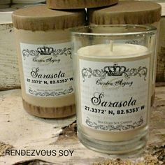 Rendezvous Soy custom coordinate candle. www.rendezvouscandles.com